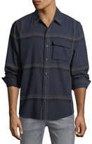 Joe's Jeans Men's Bellowed Plaid Herringbone Shirt