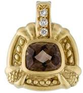 Judith Ripka 18K Diamond & Smoky Quartz Pendant