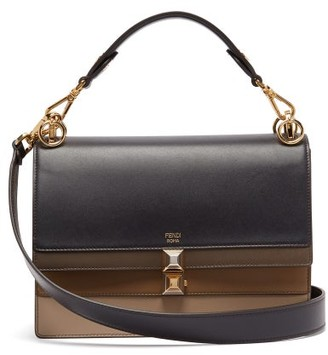 Fendi Kan I Leather Shoulder Bag - Womens - Navy Multi