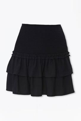 Forever 21 Smocked Flounce Mini Skirt