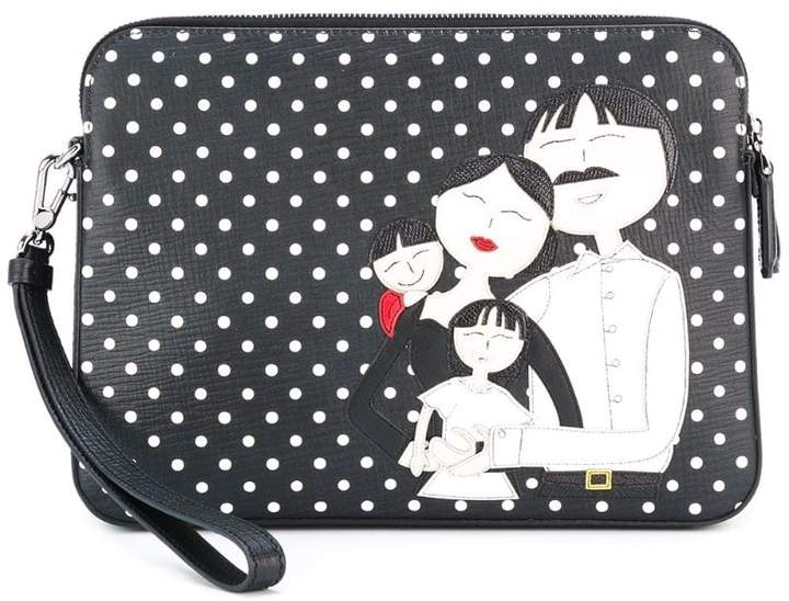 Dolce & Gabbana family patch clutch