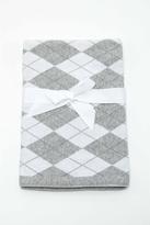 Baby Mode Signature Grey Argyle Blanket