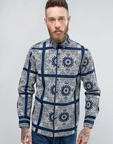 Edwin Standard Shirt Indigo Bandana