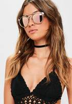 Missguided Pink Mirrored Sunglasses