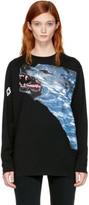Marcelo Burlon County of Milan Black Long Sleeve Fainu T-shirt