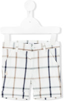 Le Bebé Enfant - grid print chino shorts - kids - Cotton/Polyamide/Spandex/Elastane - 6 mth