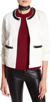 Love Moschino Chain Trim Long Sleeve Jacket