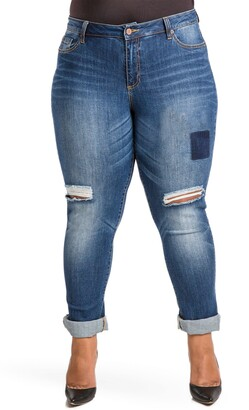 Poetic Justice Shaw Curvy Fit Boyfriend Jeans