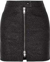 Givenchy Metallic Textured-leather Mini Skirt - Black