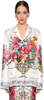 Dolce & Gabbana Bouquet Printed Silk Twill Shirt