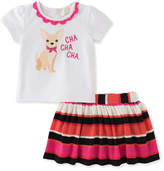 Kate Spade Cha Cha Cha Tee W/ Striped Skirt, Size 12-24 Months