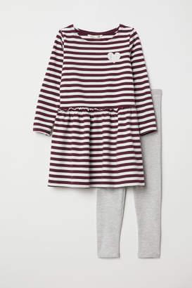 H&M Dress and Leggings - White