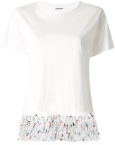 Coohem tweed fringe T-shirt