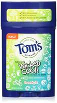Tom's of Maine Wicked Cool Teen Boys Natural Freestyle Deodorant, 2.25 Ounce (Pack of 6)