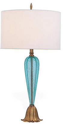 Port 68 Tulip Table Lamp - Turquoise/Gold Leaf