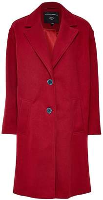 Dorothy Perkins Relaxed Masculine Coat - Red