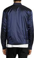 Helmut Lang Reversible Satin Bomber Jacket, Blue/Gray