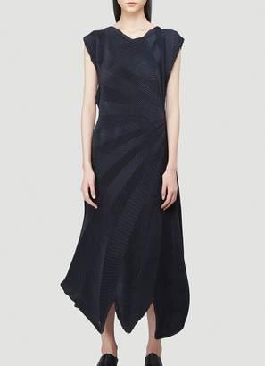 Issey Miyake Asymmetric Pleated Dress
