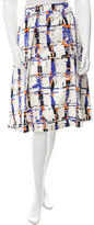 LK Bennett Abstract Print Pleated Skirt w/ Tags