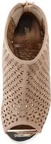 Jimmy Choo Paw Perforated Suede Cork-Wedge Bootie, Latte