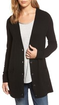 Halogen Petite Women's Long Sleeve V-Neck Cardigan