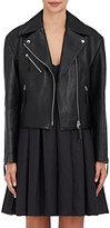 Calvin Klein Collection Women's Belted Lambskin Moto Jacket