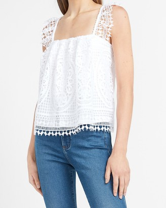 Express Lace Square Neck Tank