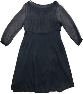 Philosophy di Alberta Ferretti Black Wool Dresses