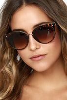 LuLu*s Just the Sweetest Black Sunglasses