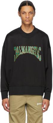 Palm Angels Black Broken Logo Sweatshirt
