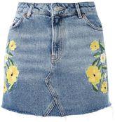 Topshop MOTO Floral Stud Mini Skirt