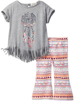 Jessica Simpson Fringed Tee & Flared Pant Set (Baby Girls)