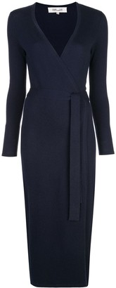 Dvf Diane Von Furstenberg Fine Knit Wrap Dress