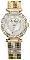 Juicy Couture Cali White Dial Gold Tone Mesh Bracelet Ladies Watch