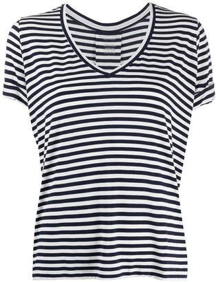 Majestic Filatures v-neck striped T-shirt
