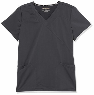 HeartSoul Scrubs Women's Head Over Heels Wrapped up V-Neck Top