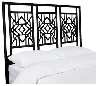 David Francis Furniture Tulum Open-Frame Headboard Size: Queen, Color: Black