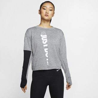 Nike Women's Long-Sleeve Running Top Therma Sphere Icon Clash