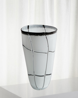 Global Views Medium Abstract Grid Vase