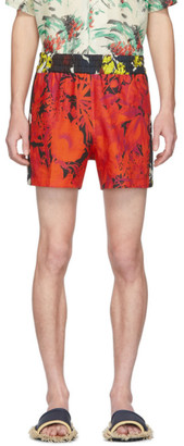 Dries Van Noten Multicolor Floral Elastic Waist Shorts