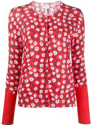 Escada Sport Floral-Print Knitted Cardigan