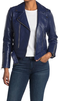 Noize Meghan Vegan Leather Belted Jacket