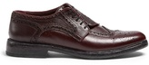Burberry Asymmetric grained-leather brogues
