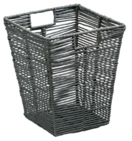Honey-Can-Do Coastal Collection Rolled Paper Rope Trash Bin
