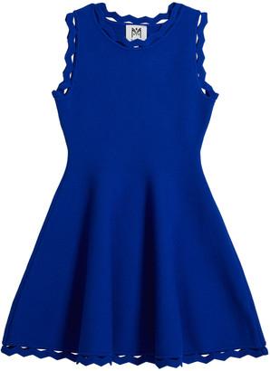Milly Girl's Zigzag-Trim Flare Dress, Size 7-16