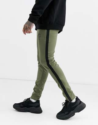 Gym King tapered poly tracksuit sweatpants-Green