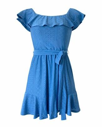 BCBGeneration Women's Off-The-Shoulder Waist Tie Day Dress