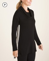 Zenergy Petite Side-Split Cowl-Neck Tunic