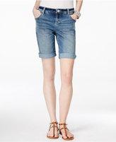 INC International Concepts Monday Wash Denim Shorts, Only at Macy's