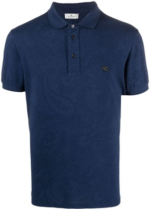 Etro Embroidered-Logo Cotton Polo Shirt